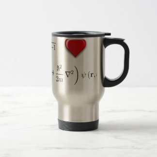 I heart Schrodinger equation 15 Oz Stainless Steel Travel Mug