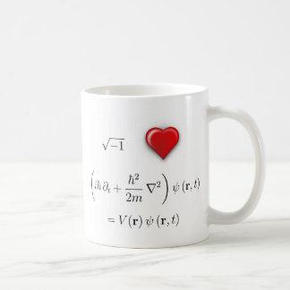I heart Schrodinger equation Classic White Coffee Mug