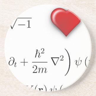 I heart Schrodinger equation Drink Coasters