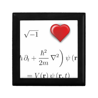I heart Schrodinger equation Keepsake Boxes