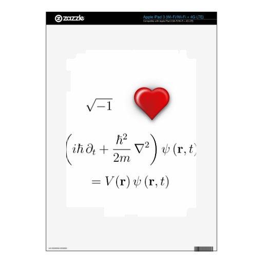 I heart Schrodinger equation iPad 3 Skins