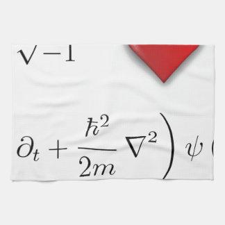 I heart Schrodinger equation Kitchen Towels