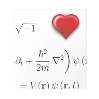 I heart Schrodinger equation Note Pad