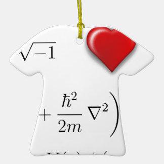 I heart Schrodinger equation Ornament