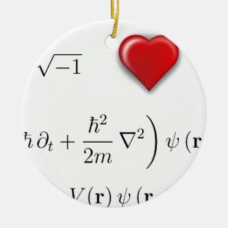 I heart Schrodinger equation Ornaments