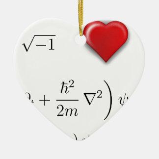 I heart Schrodinger equation Christmas Tree Ornament