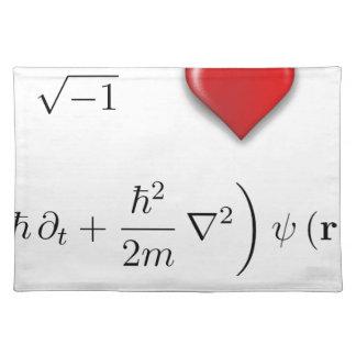 I heart Schrodinger equation Placemats
