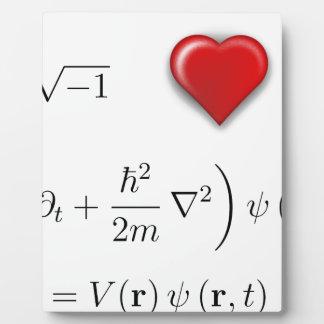 I heart Schrodinger equation Photo Plaques