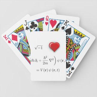 I heart Schrodinger equation Bicycle Poker Deck