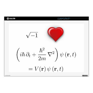 I heart Schrodinger equation Skin For Laptop