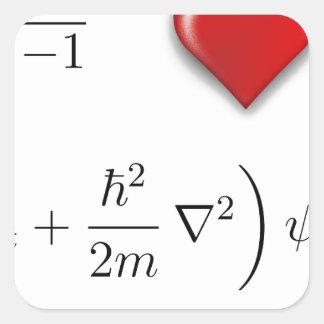 I heart Schrodinger equation Sticker