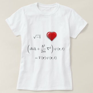 I heart Schrodinger equation T-Shirt