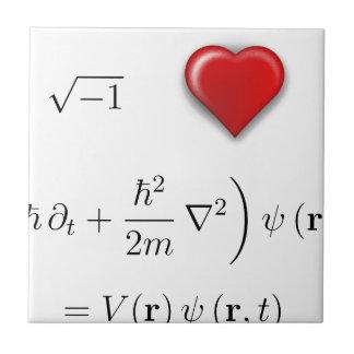 I heart Schrodinger equation Ceramic Tiles