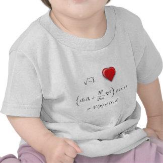 I heart Schrodinger equation T Shirts