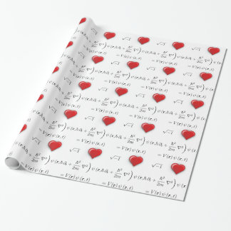 I heart Schrodinger equation Wrapping Paper