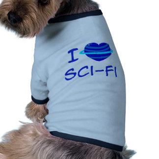 I Heart Sci-Fi Pet T-shirt