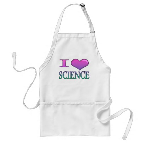 I Heart Science Adult Apron
