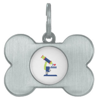 I Heart Science Pet Name Tag
