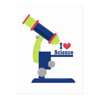 I Heart Science Postcard