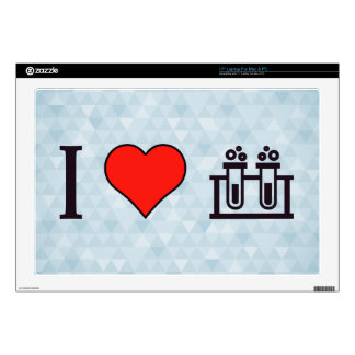 I Heart Scientific Tests Laptop Skin