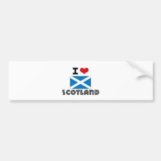 I HEART SCOTLAND BUMPER STICKERS