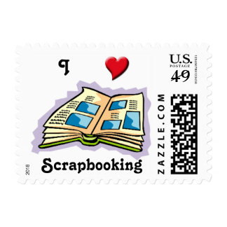 I Heart Scrapbooking Postage Stamps