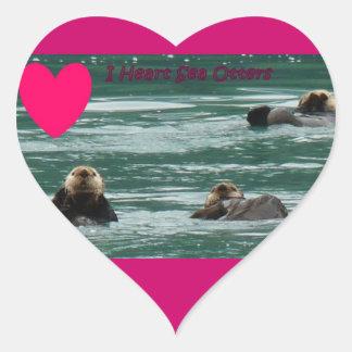 I heart Sea otter sticker