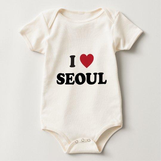 I Heart Seoul South Korea Baby Bodysuit
