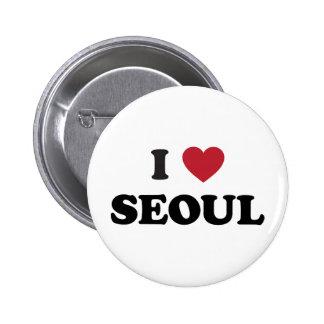 I Heart Seoul South Korea Pinback Button