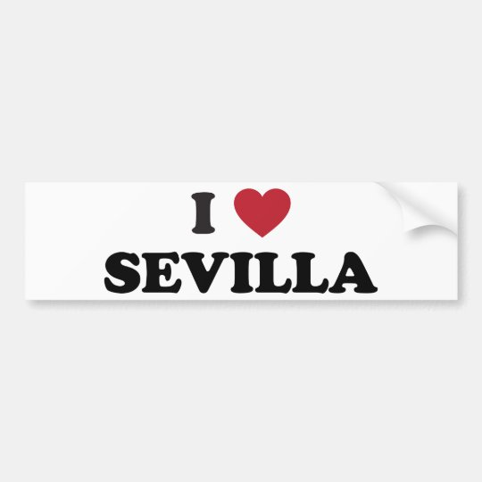 I Heart Sevilla Spain Bumper Sticker