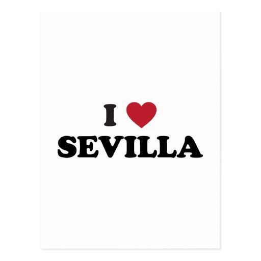 I Heart Sevilla Spain Post Card