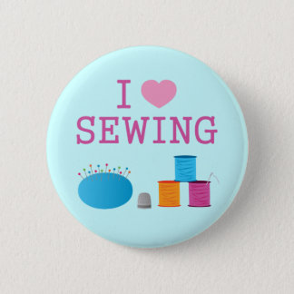 I Heart Sewing Button