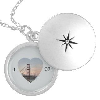 I Heart SF Round Locket Necklace