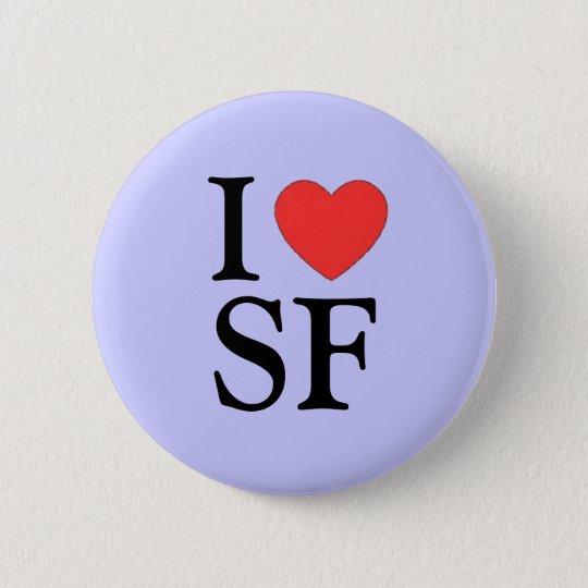 """I Heart SF (San Francisco)"" Pinback Button"