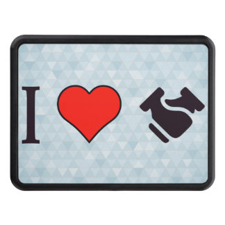 I Heart Shaking Hands Trailer Hitch Cover