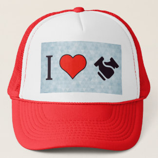 I Heart Shaking Hands Trucker Hat