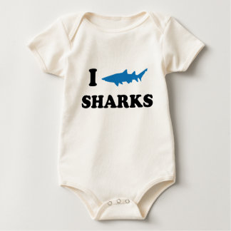 I Heart Sharks Baby Bodysuit