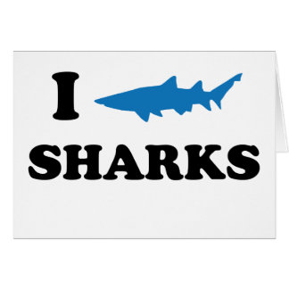 I Heart Sharks Card