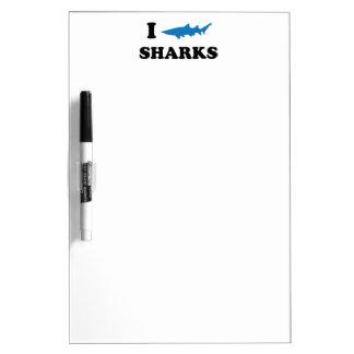 I Heart Sharks Dry-Erase Boards