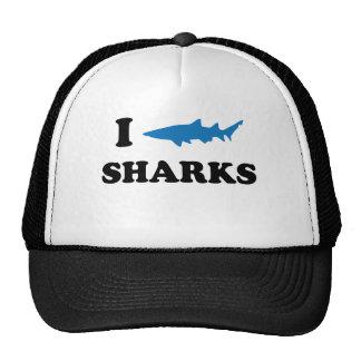 I Heart Sharks Hats