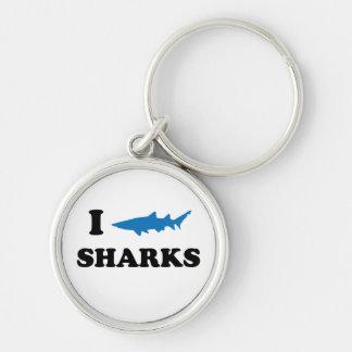 I Heart Sharks Key Chain
