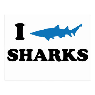 I Heart Sharks Postcard