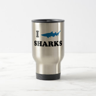 I Heart Sharks Travel Mug