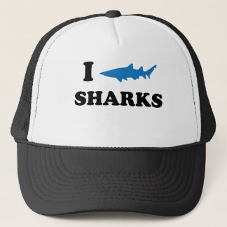 I Heart Sharks Trucker Hat