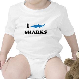 I Heart Sharks Baby Bodysuit