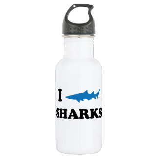 I Heart Sharks Water Bottle
