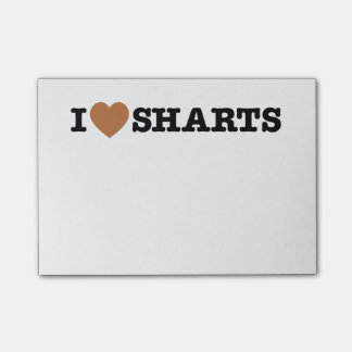 I Heart Sharts Funny Graphic Post-it Notes