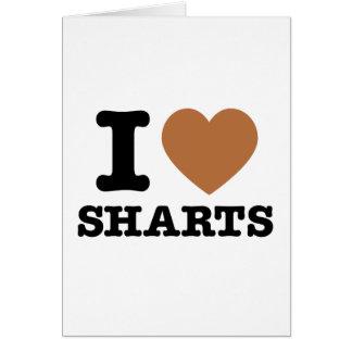 I Heart Sharts Funny Icon Graphic Card