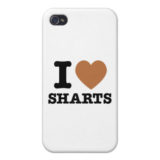 I Heart Sharts Funny Icon Graphic Case For iPhone 4