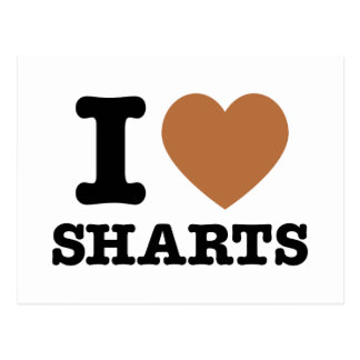 I Heart Sharts Funny Icon Graphic Postcard